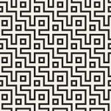 Maze Tangled Lines Contemporary Graphic Conception géométrique abstraite de fond Dirigez la configuration sans joint Photos libres de droits