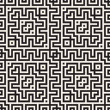 Maze Tangled Lines Contemporary Graphic Conception géométrique abstraite de fond Dirigez la configuration sans joint Photographie stock