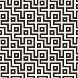 Maze Tangled Lines Contemporary Graphic Conception géométrique abstraite de fond Dirigez la configuration sans joint Image stock