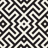 Maze Tangled Lines Contemporary Graphic Diseño geométrico abstracto del fondo Vector el modelo inconsútil Imágenes de archivo libres de regalías