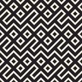 Maze Tangled Lines Contemporary Graphic Diseño geométrico abstracto del fondo Vector el modelo inconsútil Fotos de archivo libres de regalías