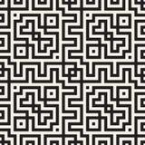 Maze Tangled Lines Contemporary Graphic Diseño geométrico abstracto del fondo Vector el modelo inconsútil Imagenes de archivo