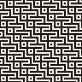 Maze Tangled Lines Contemporary Graphic Diseño geométrico abstracto del fondo Vector el modelo inconsútil Foto de archivo libre de regalías