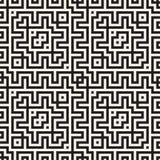 Maze Tangled Lines Contemporary Graphic Diseño geométrico abstracto del fondo Vector el modelo inconsútil Fotografía de archivo