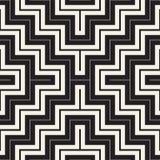 Maze Tangled Lines Contemporary Graphic Diseño geométrico abstracto del fondo Vector el modelo inconsútil Imagen de archivo libre de regalías
