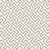 Maze Tangled Lines Contemporary Graphic Modelo blanco y negro inconsútil del vector Imagen de archivo