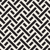 Maze Tangled Lines Contemporary Graphic. Vector Seamless Black and White Pattern. Stock Photos
