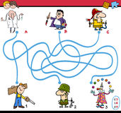 Maze task activity for children Royalty Free Stock Image