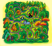 Forest maze Royalty Free Stock Photo