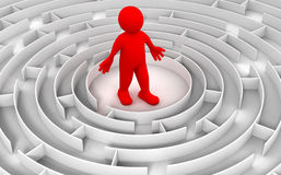 Maze to Man. Image of Man in maze vector illustration