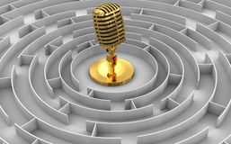 Maze to Microphone Stock Images