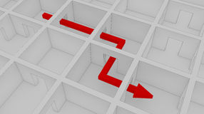 Through the maze. To success royalty free illustration