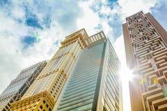 Maze Tower Dubai Arkivbilder