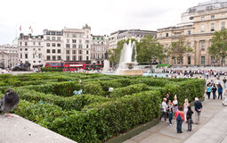 Maze at Trafalgar Square. Stock Images