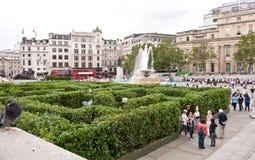 Maze at Trafalgar Square. stock images