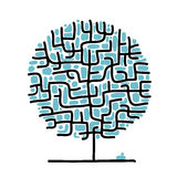 Maze tree for your design. This is file of EPS8 format Stock Photo