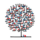 Maze tree for your design. This is file of EPS8 format Royalty Free Stock Images