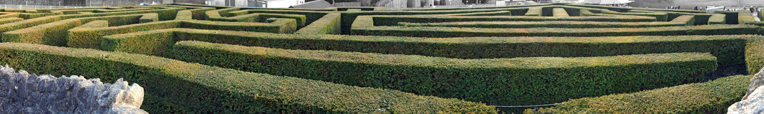 The Maze. A twisty turn large maze to give you the run around Royalty Free Stock Images