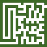 Maze two Stock Image