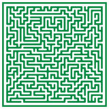 Maze (vector). Green vector maze on white background Stock Photography
