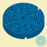 Maze (vector). Vector only in global colors. CMYK. Separate shapes. Easy color changes royalty free illustration