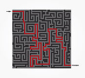 Maze-Vector illustration Royalty Free Stock Images