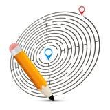 Maze Vector Illustration avec des labels Photo libre de droits
