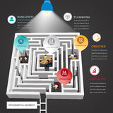 Maze vector infographic for business worker. Royalty Free Stock Image