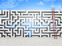 Maze wall Stock Photography