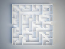 Maze on white background. Search and decision making concept Royalty Free Stock Photos