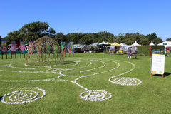 Maze with willow dome at Southport Flower Show 2013 Royalty Free Stock Photo