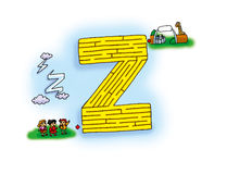 Maze Z Royalty Free Stock Images