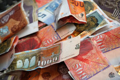 Mazedonische denars lizenzfreie stockbilder
