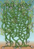 Mazelek för åtta ormar stock illustrationer