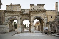 Mazeusa and Mithridates Gate in Ephesus. Ephesus - ancient ancient city on the western coast of Asia Minor, the territory of Turkey Stock Photo