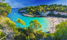 Mazing beach on Cala Llombards, Majorca island, Spain. Mazing beach of Cala Llombards, Majorca island, Spain royalty free stock photo