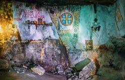 Mazmorras de Christian Orthodox Grotto In The Siagne Imagen de archivo