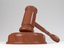 Mazo de la justicia Imagen de archivo libre de regalías