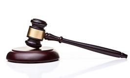 Mazo de madera del juez Foto de archivo libre de regalías