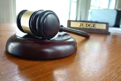 Mazo del juez fotografía de archivo
