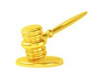 Mazo del juez del oro Imagenes de archivo