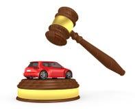 Mazo y coche - 3d rinden libre illustration