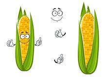 Mazorca de la historieta de la verdura jugosa del maíz dulce Fotografía de archivo libre de regalías