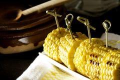 Mazorca de maíz asada Fotografía de archivo libre de regalías
