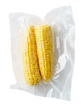 Mazorcas de maíz selladas vacío Foto de archivo