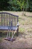 Mazos de croquet Foto de archivo