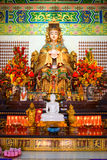 Mazu goddess statue and altar in the chinese temple Royalty Free Stock Photography