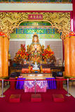 Mazu goddess statue and altar in the chinese temple Stock Photo