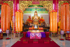 Mazu goddess statue and altar in the chinese temple Stock Image