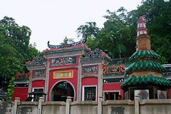 Mazu pawilon w Macao zdjęcia royalty free